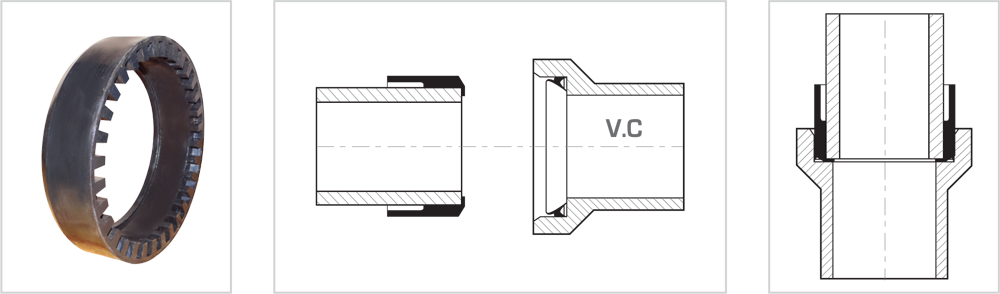 SVCP - Connection of vitrified clay pipes to pipes of different